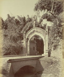 City Gates in Bamboo hedge, [Rampur]